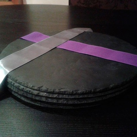 Plato redondo de pizarra 20 cm