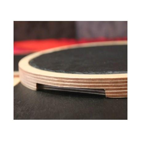 Tabla redonda de pizarra y madera 27cm