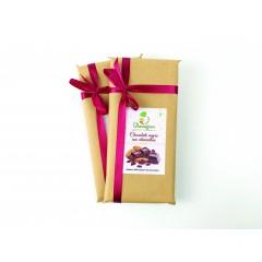 Chocolate negro artesano con almendras 200G
